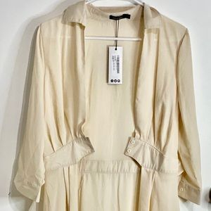 BooHoo Cream Maxi Shirt